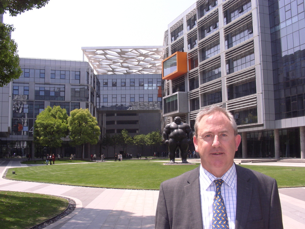 David Thomas at Alibaba HQ in Hangzhou, China