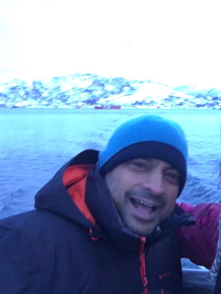 Ramesh in Norway. Another one of his philanthropic projects where he supports studies for orcas and humpback whales!