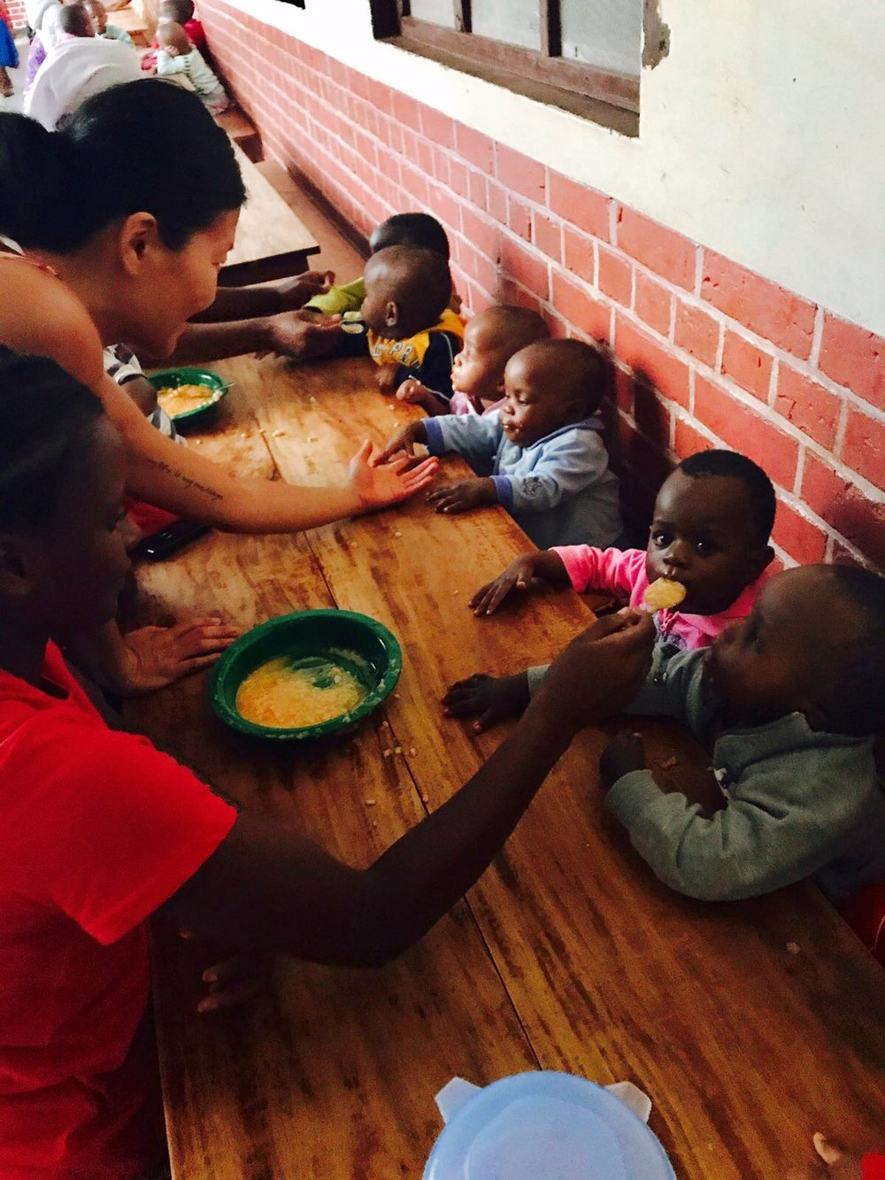 Meal time at Mgolole Orphanage