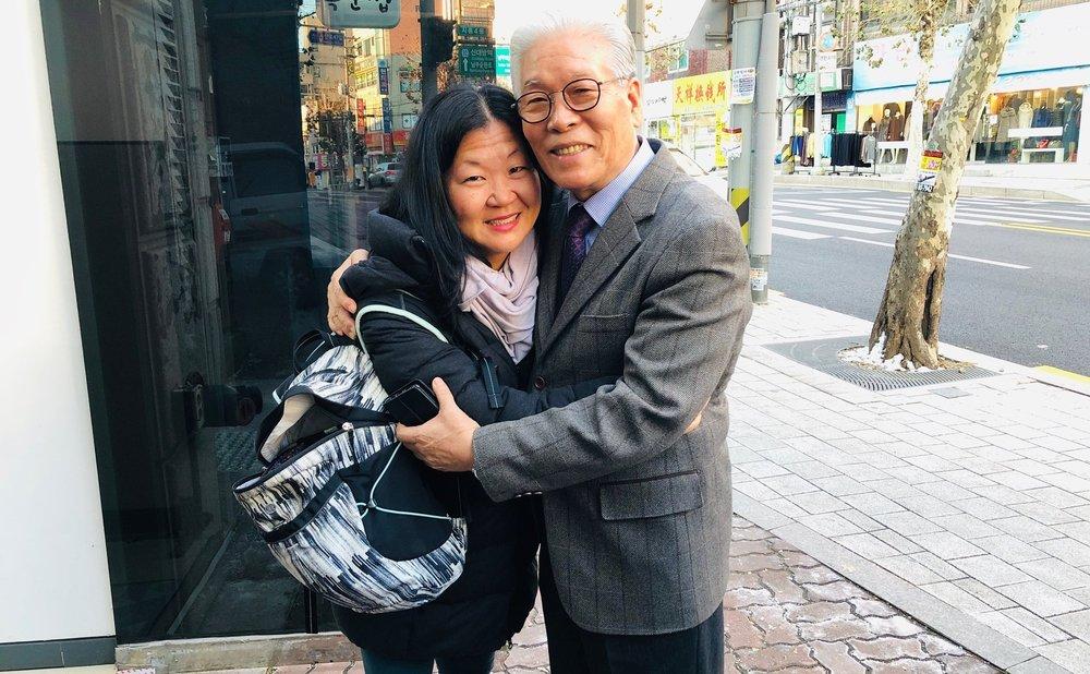 Kim with Pastor Lee, Baby Drop Box