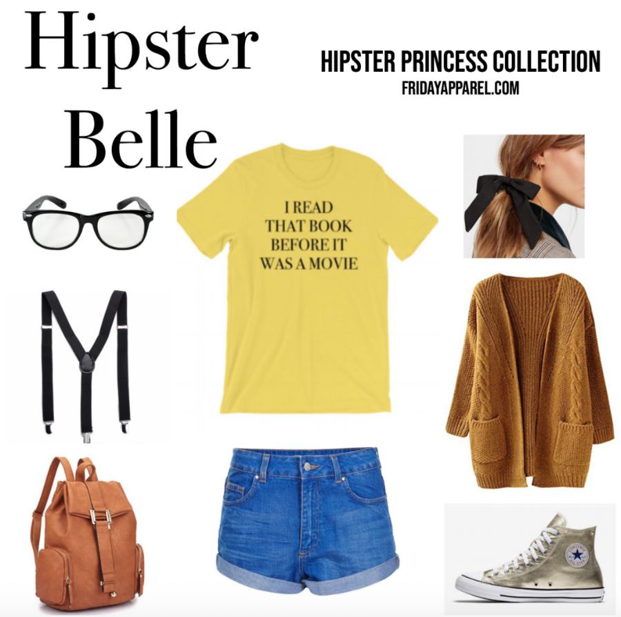 Hipster Belle Hipster Disney Princess Outfit by Friday Apparel