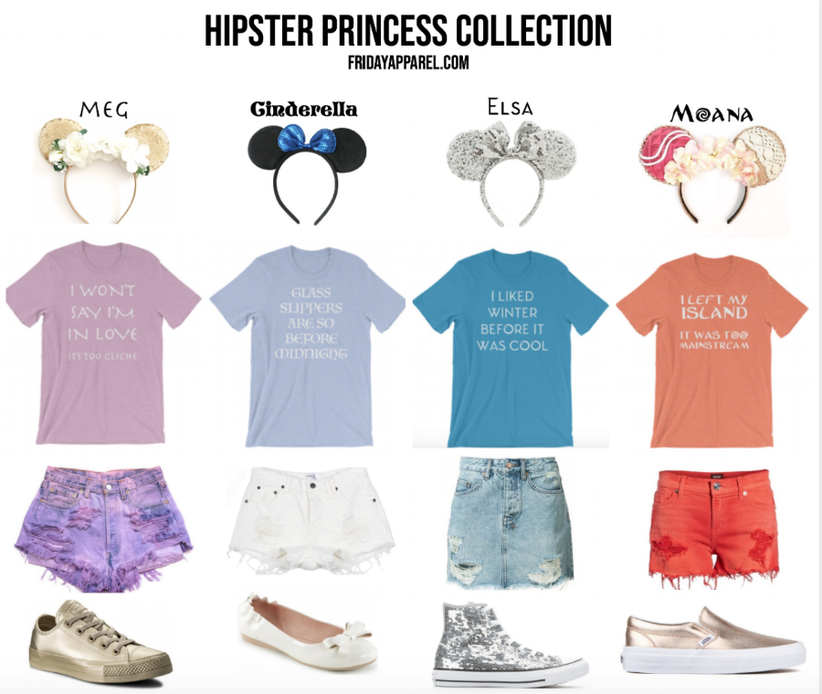 Hipster Disney Princess Outfits Disneyland Mickey Ears by Friday Apparel