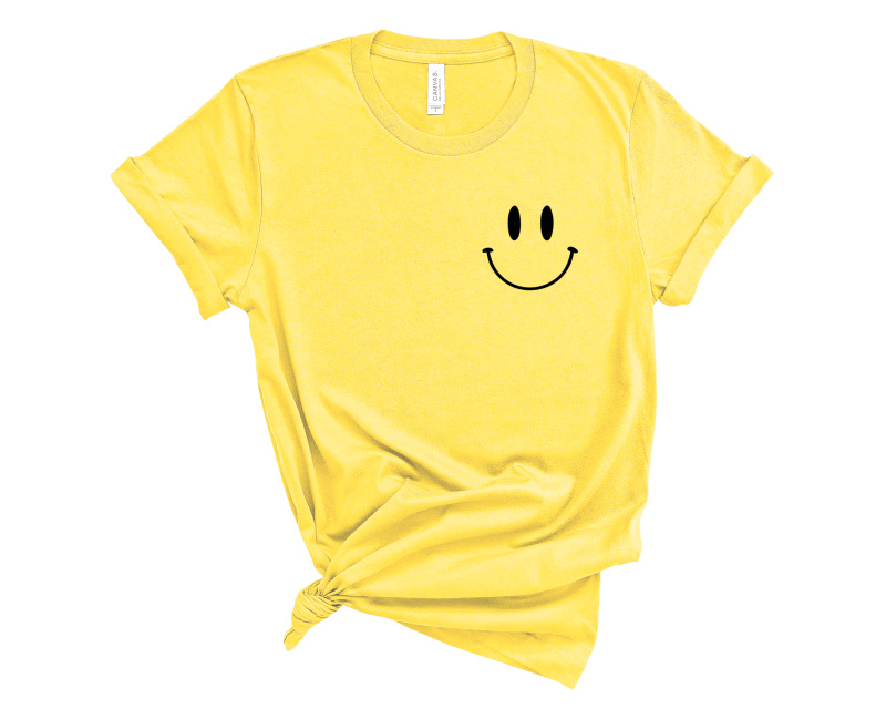 Color Me Happy Embroidered Tee