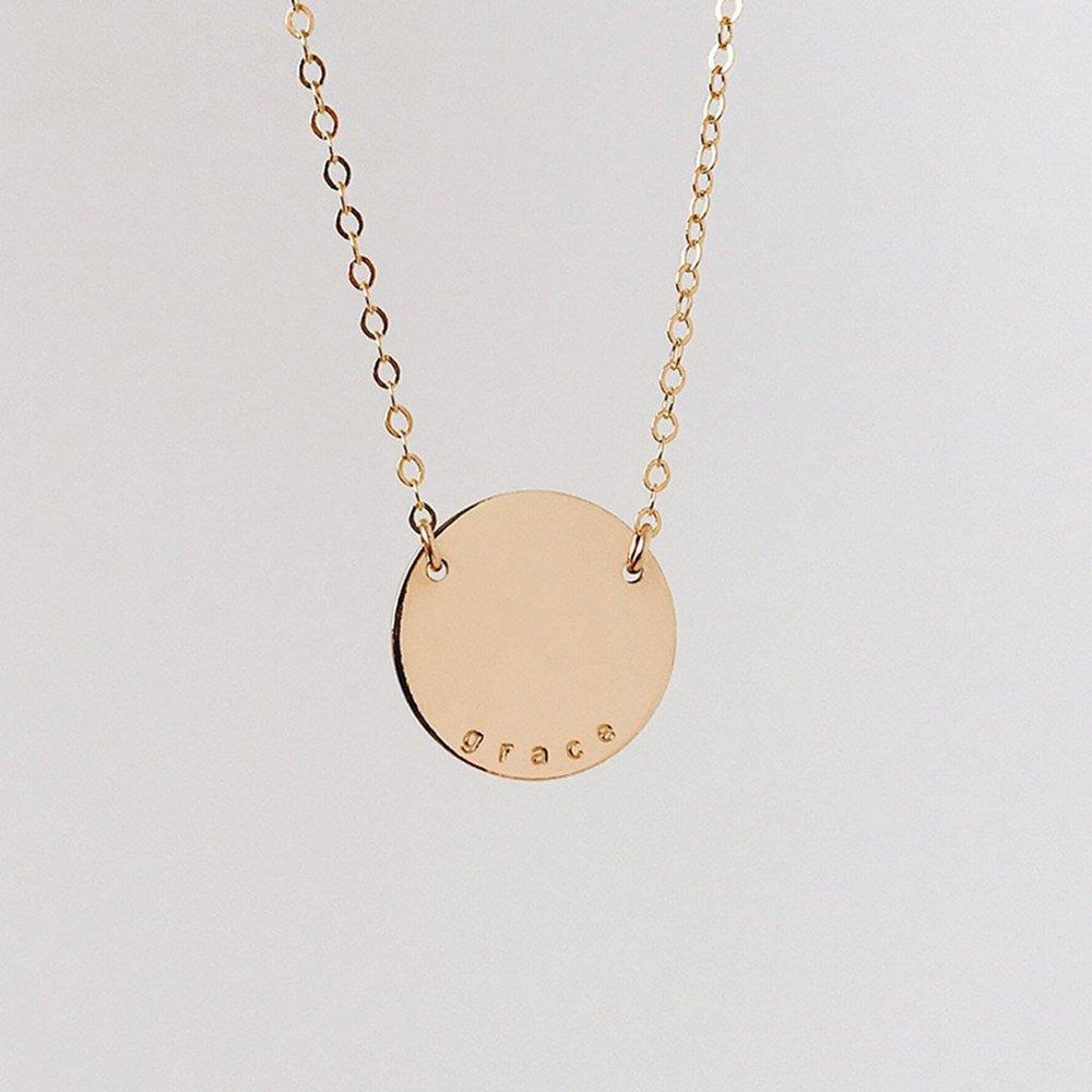 'Grace' Disc Necklace