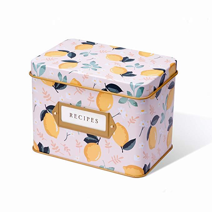 Lemon Zest Recipe Box