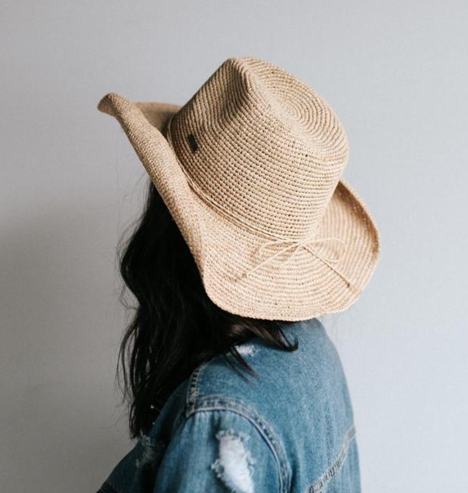 Dawn - Rafia Western Hat