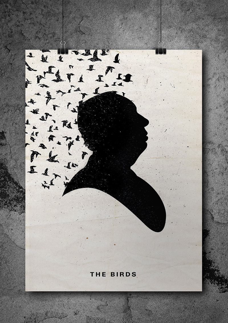 Alternate poster designed for  The Birds  (1963)