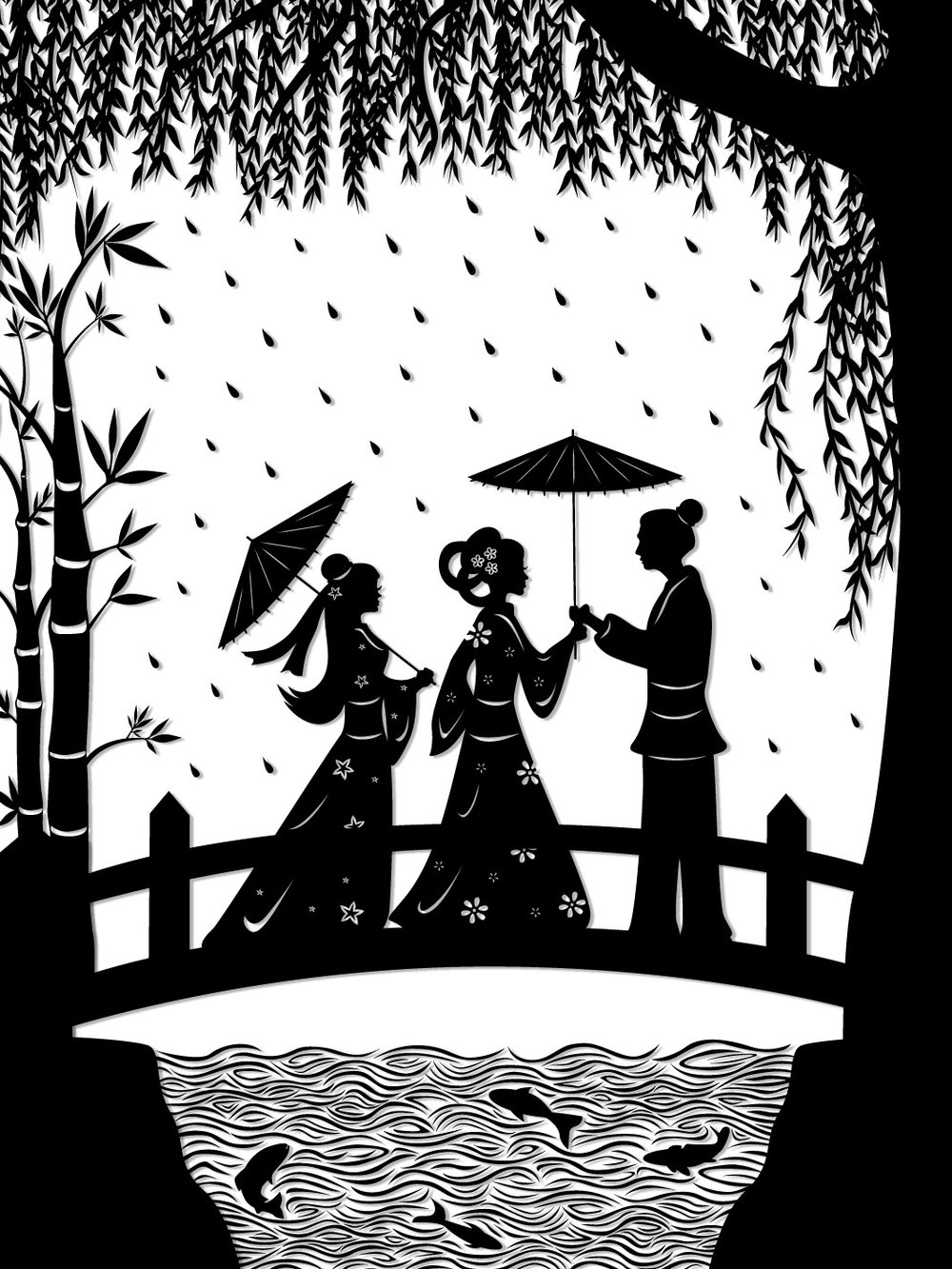 Lady White Snake : Bai Suzhen and Xiao Qing meet Xu Xian on Broken Bridge
