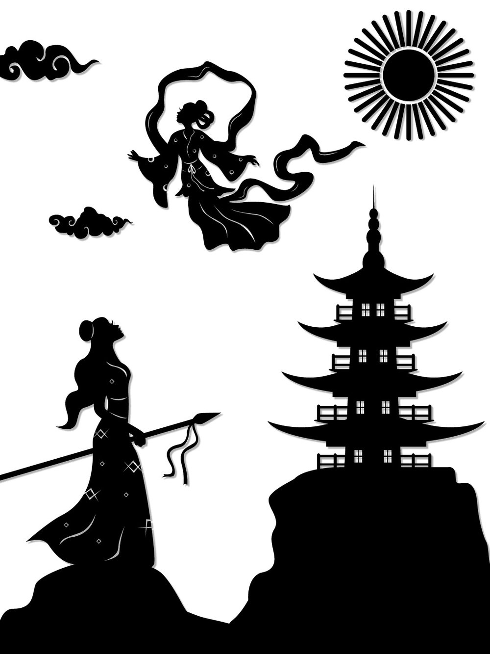 Lady White Snake : Xiao Qing frees Bai Suzhen from Leifeng pagoda.