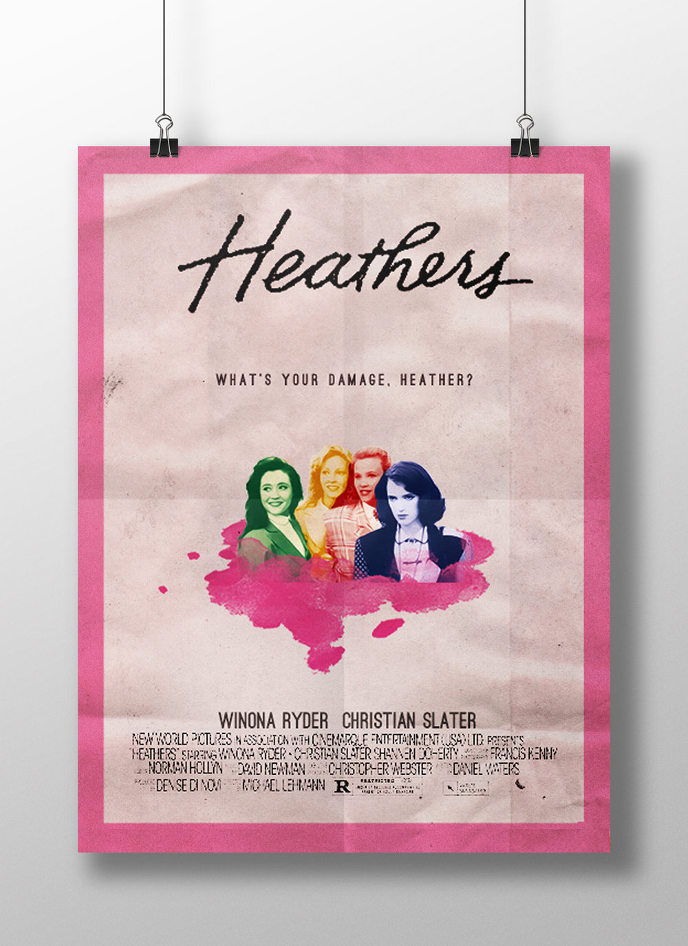 Poster for the film  Heathers