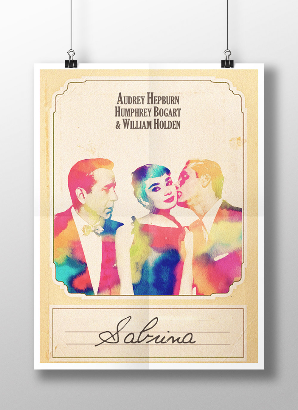 Poster for the film  Sabrina