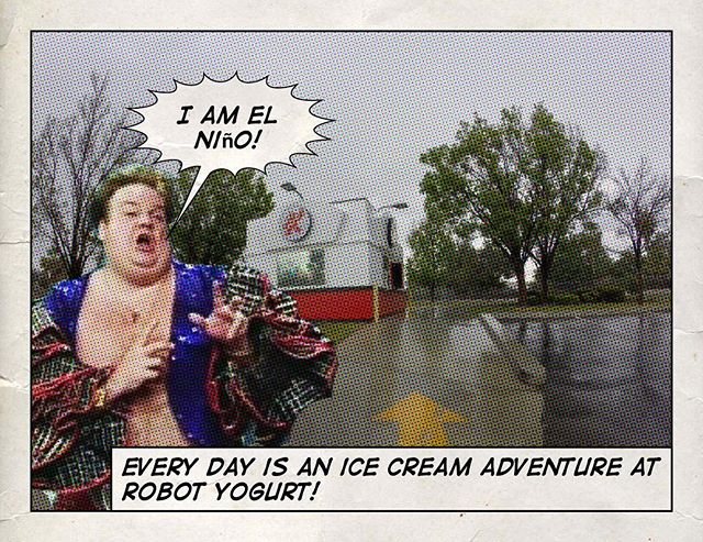 Ice cream weather? Oh, yeah! 🌈🌦