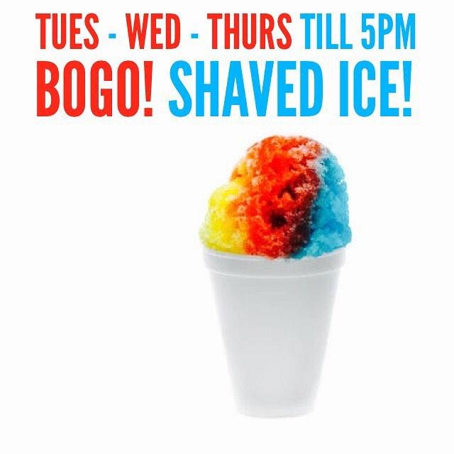 BOGO Deal! Shaved Ice + Drive Thru 🤖💥