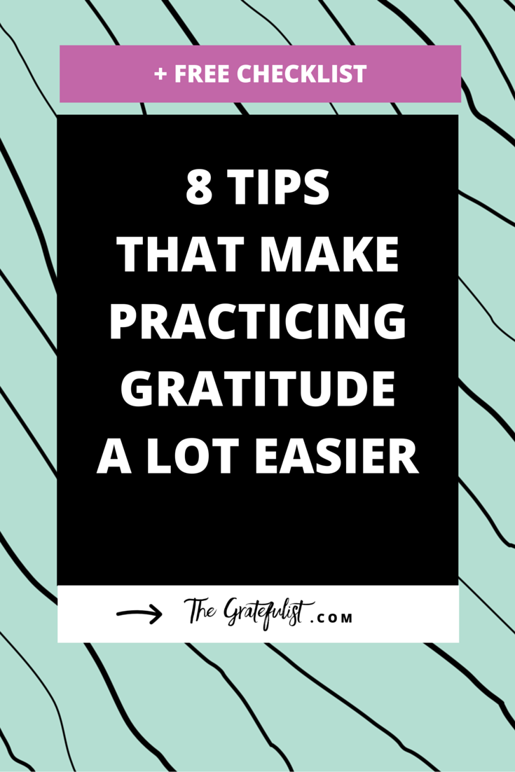 8 Tips That Make Practicing Gratitude a LOT Easier (+ free download) - Useful and practical advice for soul-connected yet stressed-out creatives (that's you creative entrepreneurs, bloggers, photographers, designers, and handmade business owners!) who want to build up their gratitude mojo. Click through to read all about the 8 strategies you can use when starting a gratitude practice. In case you're ever in a gratitude slump, I created a free printable checklist. Grab it and use it as a prompt or reminder whenever you feel your motivation waning or can't think of a thing to feel grateful for.