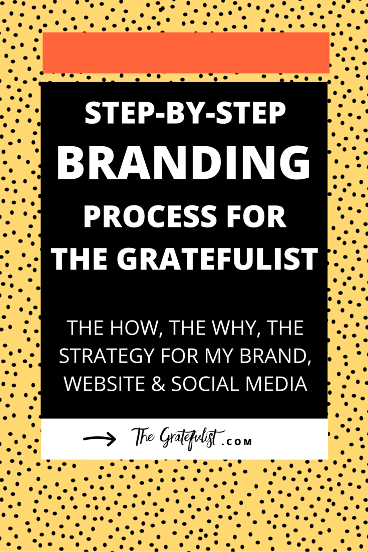 Step-by-step branding process for The Gratefulist - the how, the why, the strategy for my brand, website and social media | After being in business for a a few months I knew I needed to change the creative direction for my brand, site & online business. Click through to learn more about the re-design and re-branding process and how I translated the new brand into a cohesive visual identity, an on-brand website on Squarespace, and a social media launch strategy.