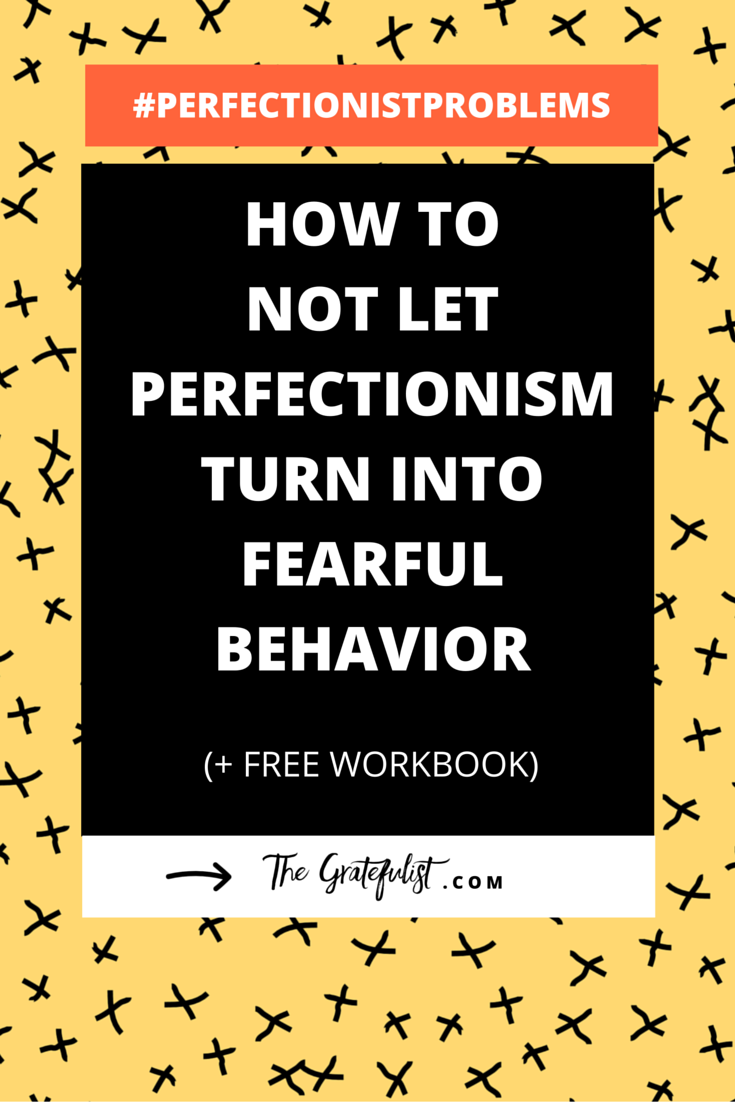 How not to let perfectionism turn into fearful behavior - We're back with the ninth instalment of the #perfectionistproblems series for soul-connected yet stressed-out creatives. This week we're exploring the link between perfectionism and fear, where we focus on the fear that results from perfectionism. Click through to read the entire blog post. Plus, there's a FREE workbook!