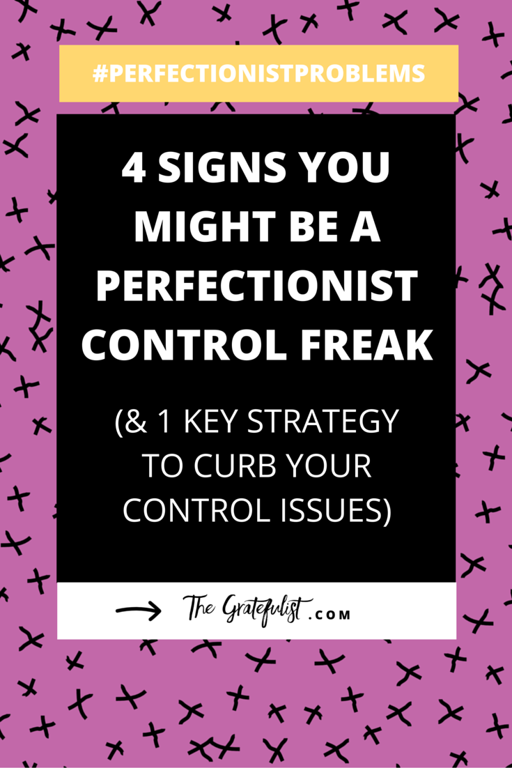 4 signs you might be a perfectionist control freak (& 1 key strategy to curb your control issues)-It's the 12th episode of the #perfectionistproblems series for soul-connected yet stressed-out creatives and recovering perfectionists and one of the biggest problems that we as perfectionists face is our controlling behavior. Click through to learn all about how to stop being a control freak. Plus there's a FREE workbook!