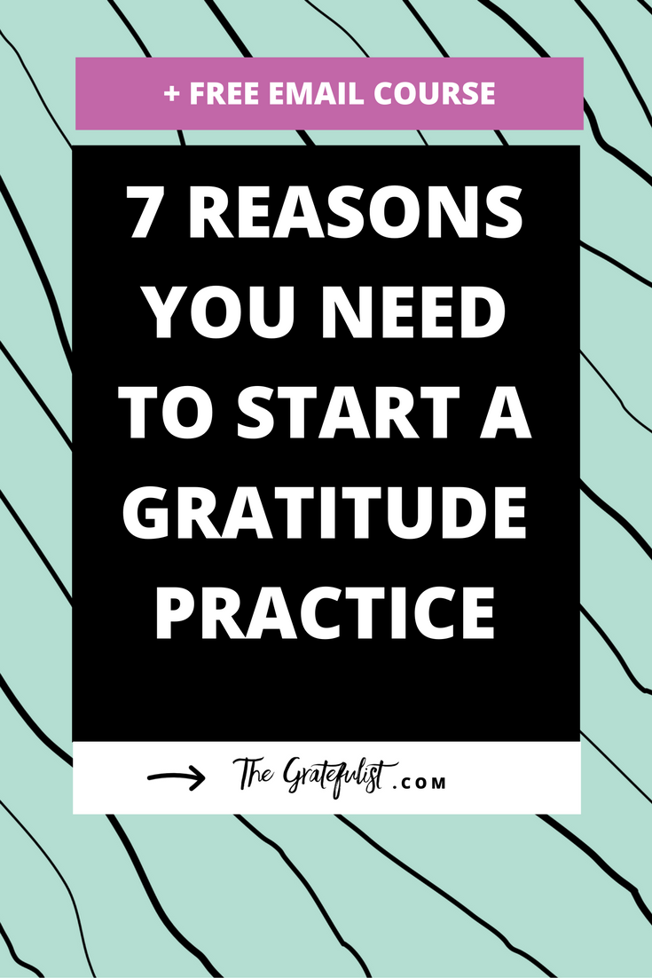 Starting a gratitude practice is the best choice I've ever made. Not only does practicing gratitude have many benefits for body and mind, gratitude also has a few practical benefits that will help make your day-to-day life easier, less stressful, and more fulfilling. In fact, there are 7 practical reasons you need to start a gratitude practice today. Wháaat! Click through to learn all about them. Plus, there's a free email course waiting for you!