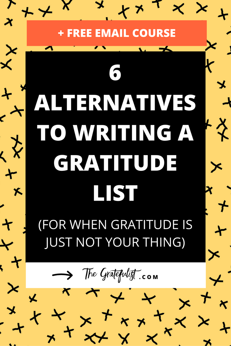 Does the word 'gratitude' resonate with you? Maybe 'gratitude' just doesn't gel. Perhaps you're someone who's into journaling, but gratitude journaling is just not your thing. That's okay! Why don't you reframe that gratitude list-making into something that DOES gel with you? I've come up with 6 other ways you can practice gratitude through journaling and writing a daily list, without it being that dreaded gratitude list. Click through to read more, plus there's a free email course waiting for you!