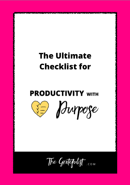 The Gratefulist - The Ultimate Checklist for Productivity with Purpose