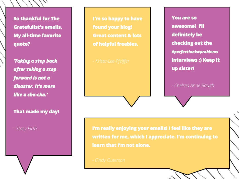 The Gratefulist Testimonials