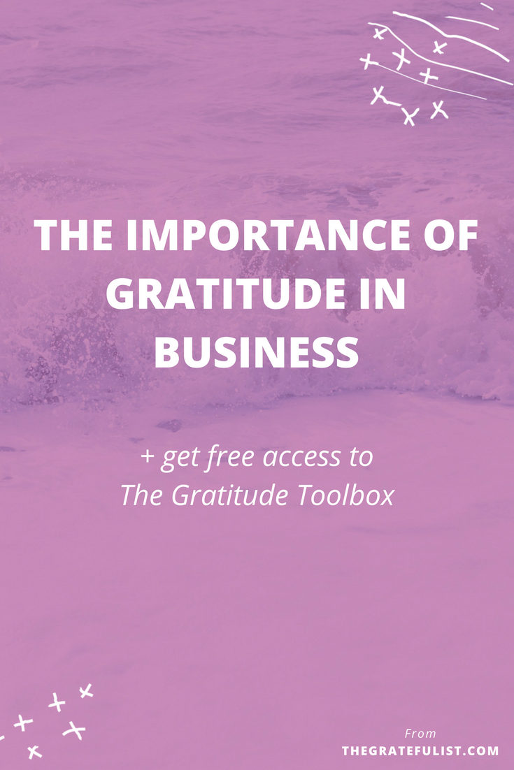 There are a ton of resources on The Gratefulist Blog helping you to set up your gratitude practice and be more grateful in your personal life. But did you know gratitude has its place in business as well? In fact, gratitude might just be the one crucial business strategy you're missing out on. To ensure that you're no longer missing out, I'm walking you through the importance of gratitude in business. Click through to read the entire blog post and get free access to The Gratitude Toolbox.