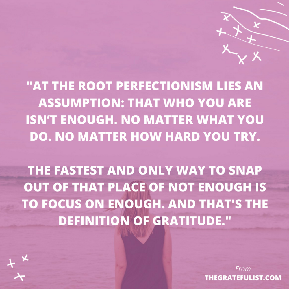 Gratitude is the #1 strategy for overcoming perfectionism. Gratitude isn't just a random value for me as a soul-connected creative, something that I stumbled upon in my personal growth journey. No, I made a conscious effort to start a gratitude practice and incorporate more feeling grateful in my life. That's because I knew that practicing gratitude would be CRUCIAL if I wanted to let go of being a perfectionist. Click through to read more, plus there's a free gratitude toolbox waiting for you!
