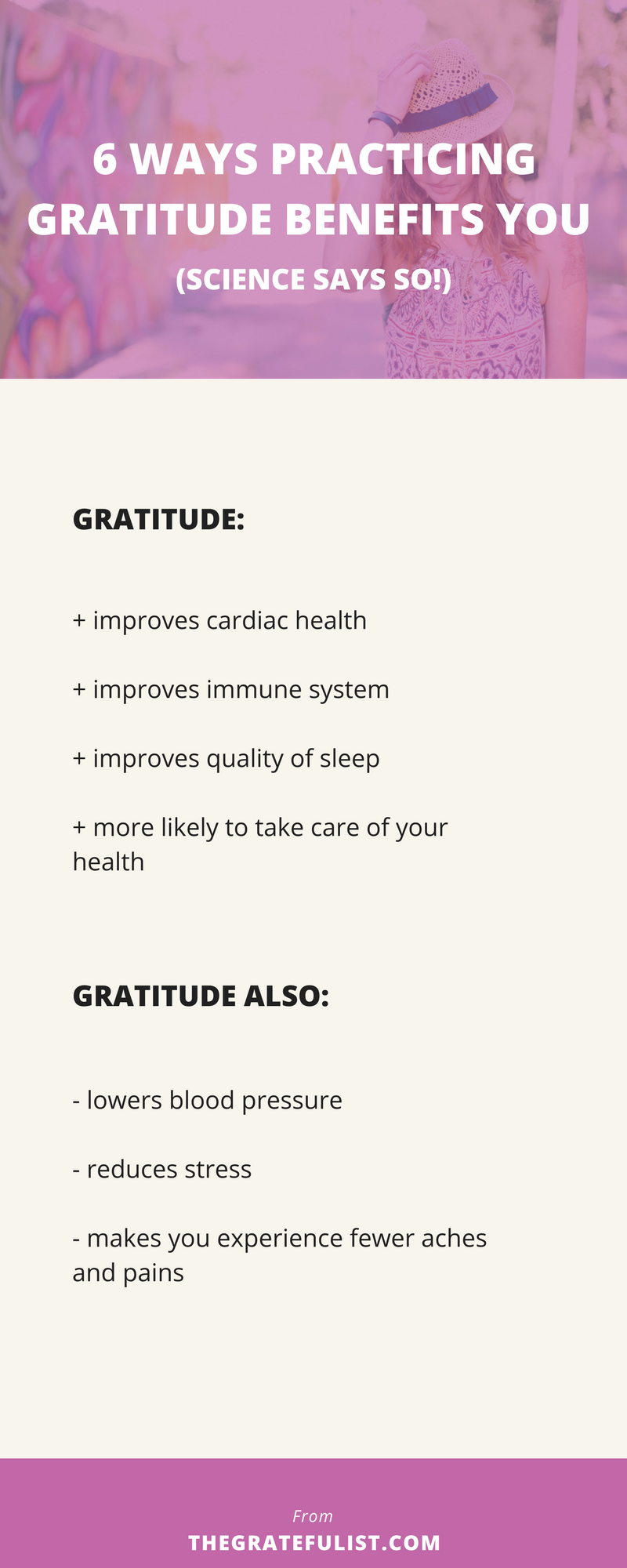 6 Ways Practicing Gratitude Benefits You (Science Says So!) - Did you know that gratitude increases happiness and well-being and reduces depression? That's what all of us soul-connected yet stressed-out creatives could use a little more of, right?!   Click through to check out all the ways practicing gratitude WILL benefit you (and get access to The Gratitude Toolbox while your at it).