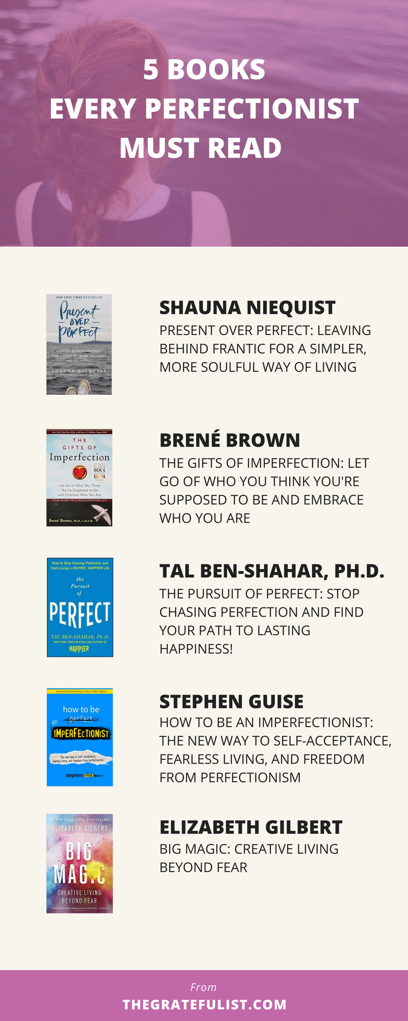 Tired of being a perfectionist? Sick of the fact that your perfectionism makes you hustle for your self-worth? These 5 books are must-reads if you want to let go of your perfectionism. Plus, there's a freebie waiting for you! Just click on through.
