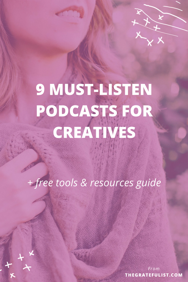 9 must-listen podcasts for for soul-connected yet stressed-out creatives & recovering perfectionists - I 'discovered' podcasts a little less than a year ago and it's quickly become my go-to tool for 'aha!' inspirational moments and 'wow, I'm not alone in this!' moments of connection with fellow creative entrepreneurs and recovering perfectionists. Click through to find out my 9 favorite podcasts. It comes with a FREE tools and resources guide with even more resources to help you get started on this podcast journey.