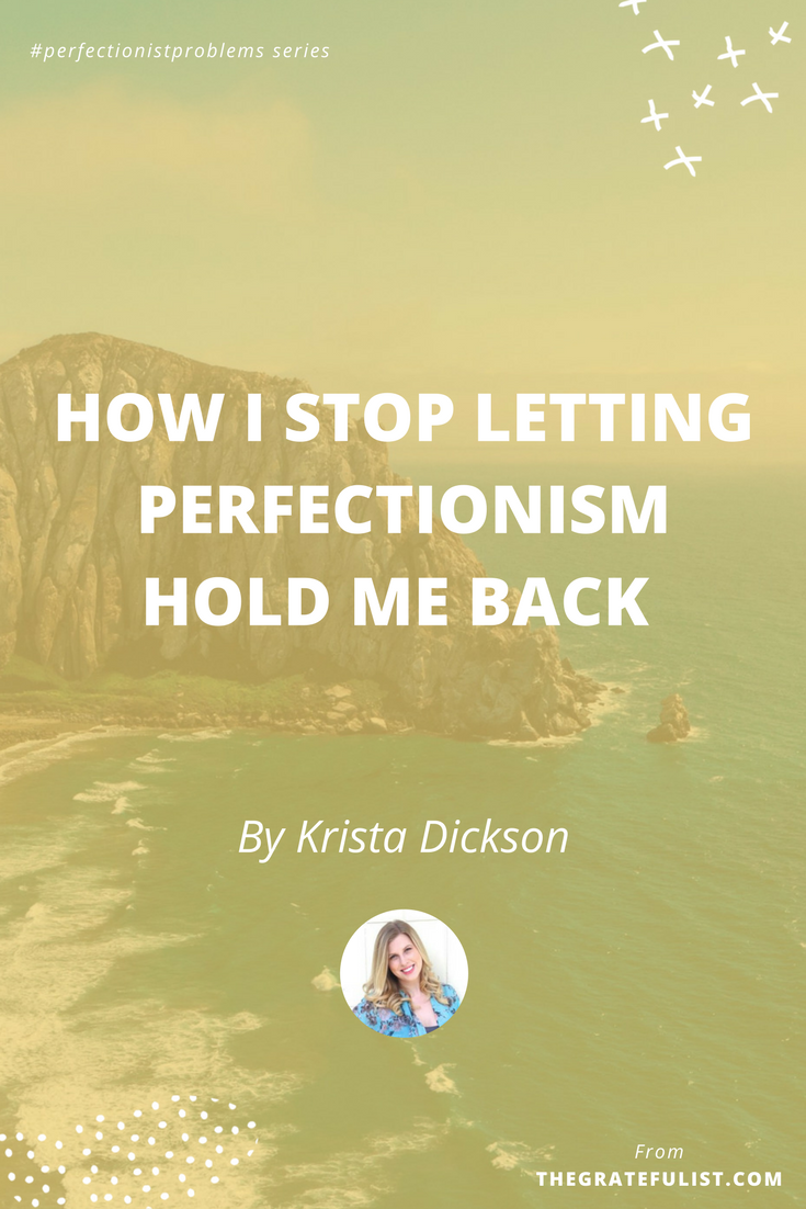 How I stop letting perfectionism hold me back by Krista Dickson from Blog Beautifully - With the #perfectionistproblems interview series it's my mission to help creatives let go of their perfectionism and embrace their perfectly imperfect selves through sharing real honest stories, insights, and experiences of dealing with perfectionism. Click through to read the entire interview. Plus, there's a free perfectionism-busting workbook!
