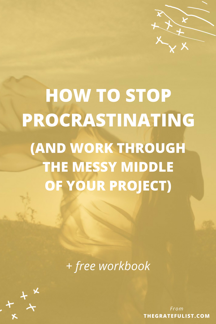 How to stop procrastinating and work through the messy middle of your creative process - We're back with episode 7 of the #perfectionistproblems series for soul-connected yet stressed-out creatives. Perfectionism and procrastination are intertwined in multiple ways. A large part of the conversation around perfectionism and procrastination, however, focuses on getting started, motivation, focus, productivity, and inspiration on the one hand and getting things done and finishing what you've started on the other hand. What's missing in this conversation is the messy middle part of the creative  process. And in that messy middle is where the creative magic happens. Click through to read the entire blog post. Plus, there's a FREE workbook!