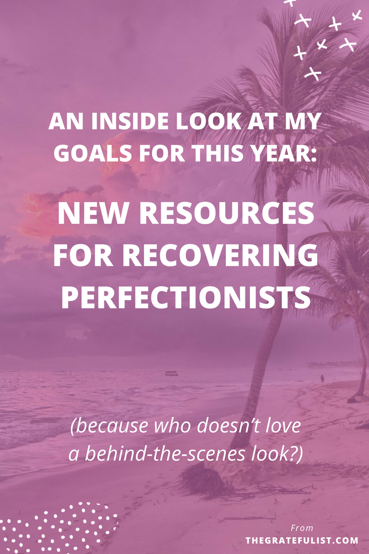 "As a perfectionist, sharing my goals is really difficult. If something doesn't work out the way I hope it will (AKA if it isn't perfect), my ""failure"" will be public knowledge. But I've decided to share my goals for this year with an inside look at some new resources for recovering perfectionist. Overcoming perfectionism / perfectionism quotes / perfectionism inspiration / progress not perfection / perfectionism definition / let go of perfectionism / stop being a perfectionist"