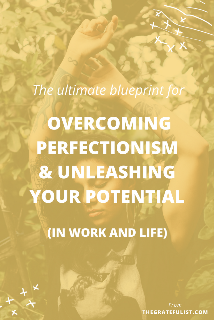 Are you ready to let go of your perfectionism, so that you can unleash your potential and go all in on your dreams? Click through to learn more about my step-by-step process. Overcoming perfectionism / recovering perfectionist / perfectionism quotes / perfectionism inspiration / progress not perfection / perfectionist / perfectionism definition /stop being a perfectionist