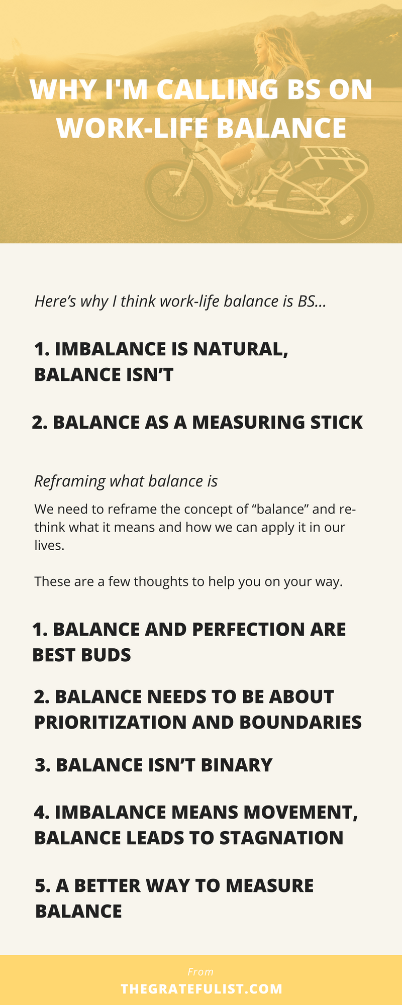"I'm calling it. That's right. I'm calling BS on work-life balance. I'm taking a firm position against work & life balance. If you're tired of reading about ""finding your balance"" and always falling short, then this blog post is a must-read! procrastination tips / overcoming procrastination / procrastination worksheet / motivation / beat procrastination / stop procrastination / perfectionism / productivity tips / productivity tools / time management / stay focused"