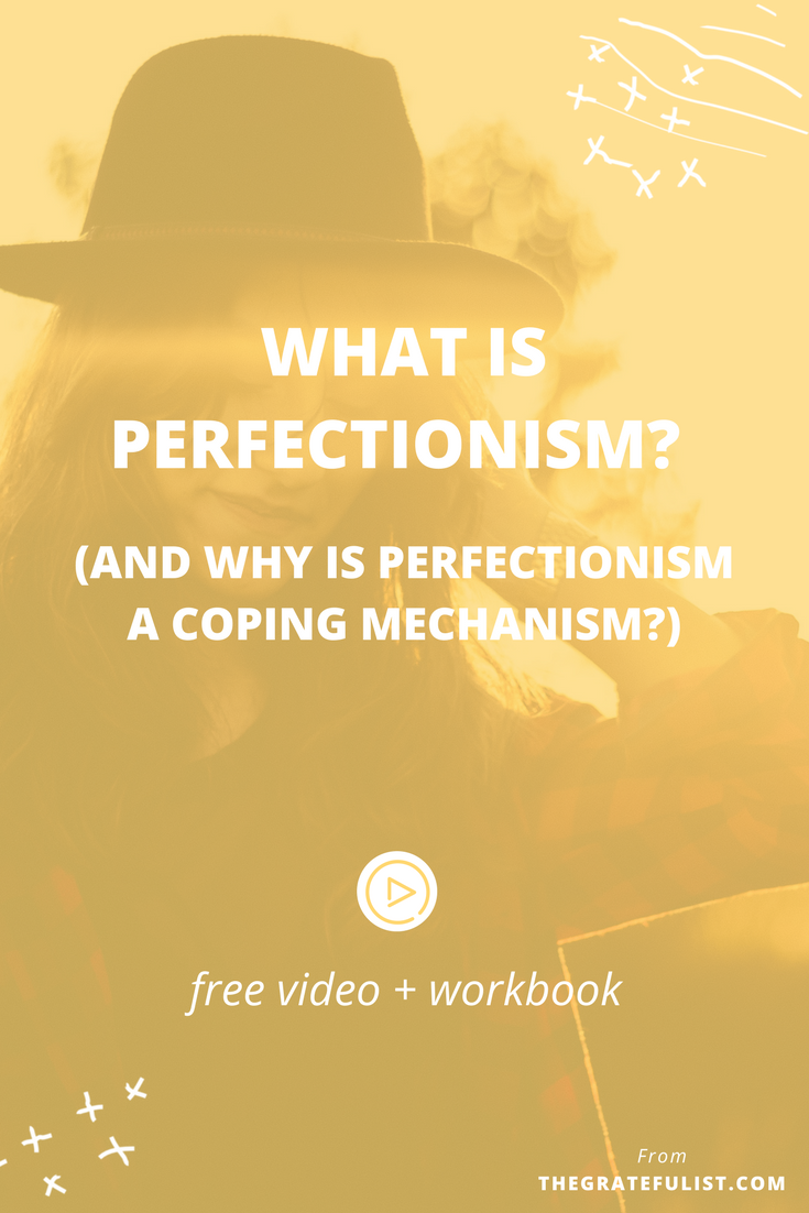 After lots of research and soul searching, here's what I've come up with about what perfectionism REALLY is and why I believe that perfectionism is a coping mechanism. Click through to watch the video, read the post, and get your free workbook!Overcoming perfectionism / recovering perfectionist /perfectionism inspiration / progress not perfection / perfectionist / perfectionism definition / let go of perfectionism / stop being a perfectionist