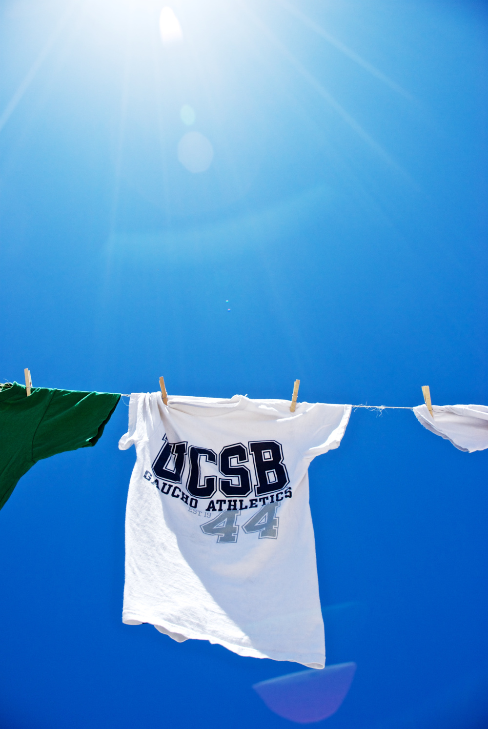 "Among the bookstore's most popular items are ""collegiate licensed apparel""—clothing that bears the UCSB name and logo, but are produced abroad under unknown conditions. - (photo by Brandon Yadegari)"