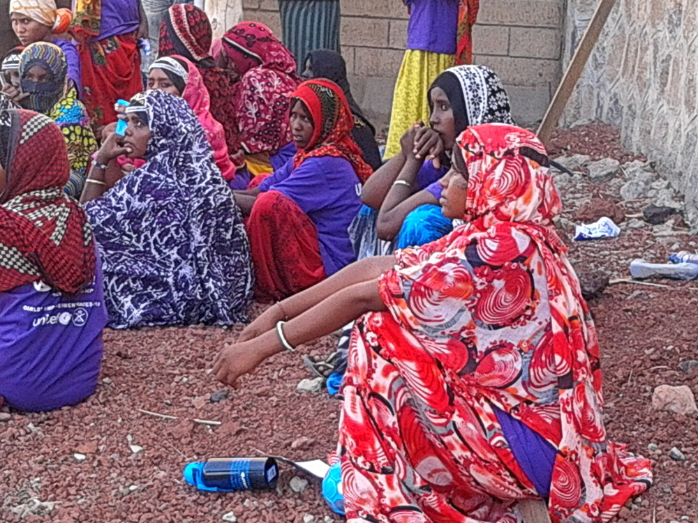 Girls in afar region