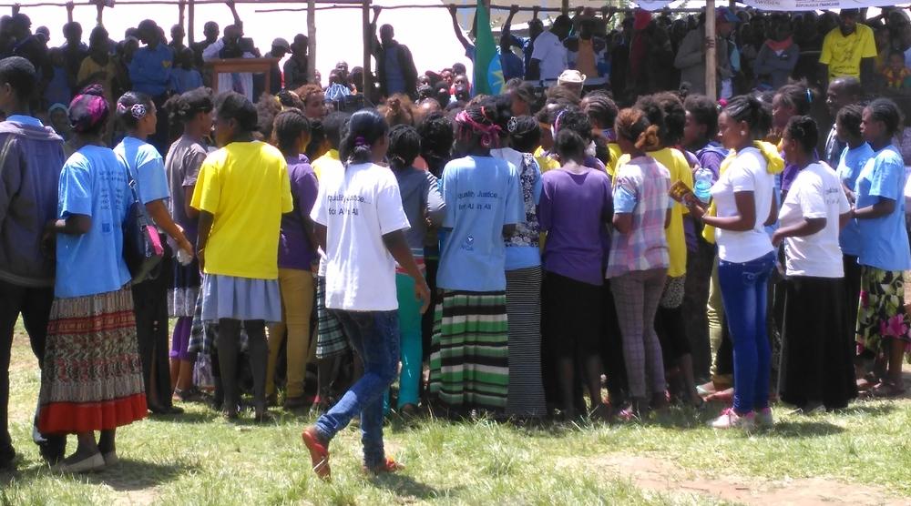 A public gathering in Durame, Ethiopia