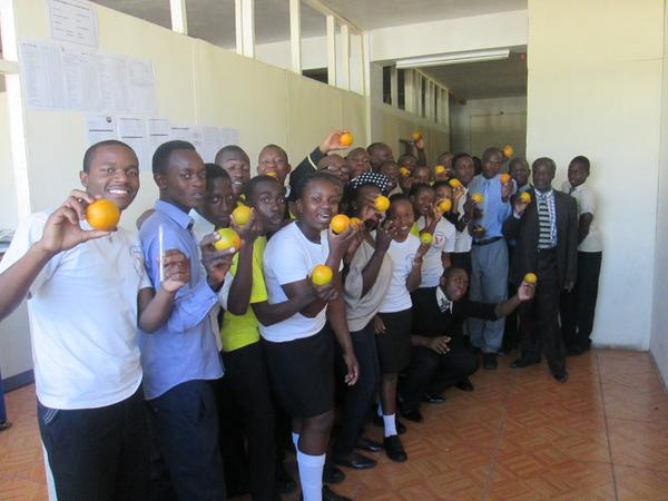 My Age Zimbabwe celebrate #OrangeDay and #16Days with Students at Herental's College, Zimbabwe.