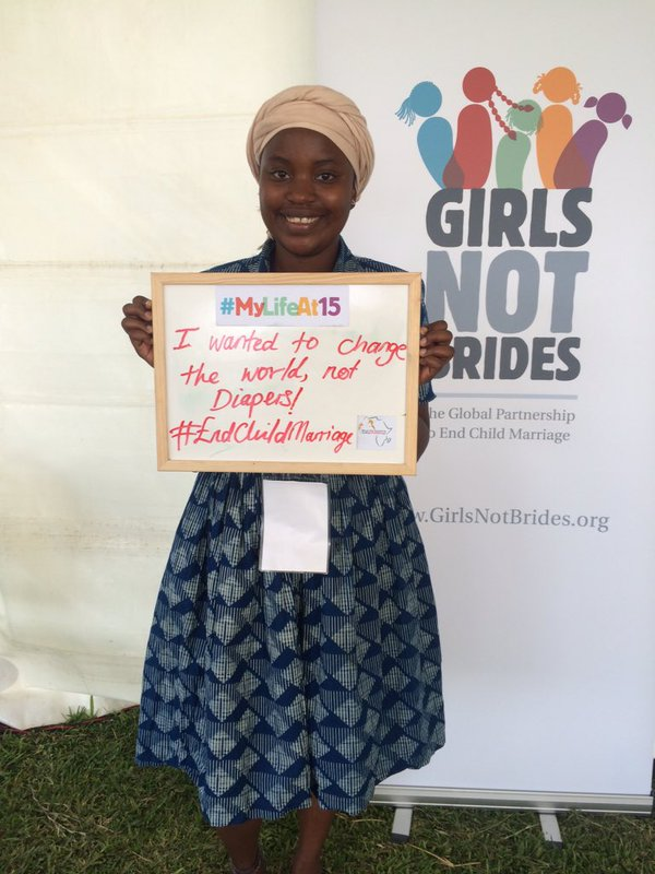 Petra supporting Girls Not Brides #MyLifeAt15 campaign