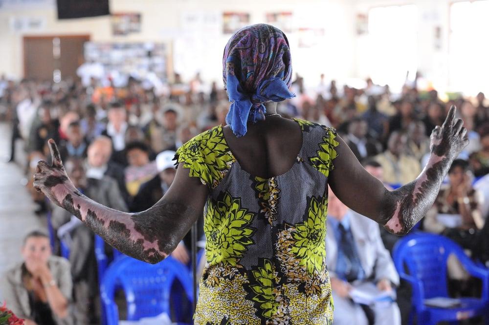 Rwandan genocide survivor recounts her story (CREDIT: Julian HarneIs)