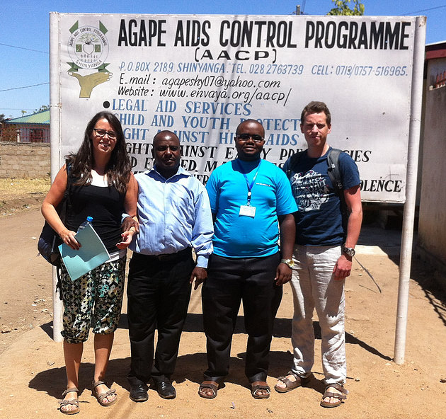 Staff at Agape Aids Control HQ in Shinyanga