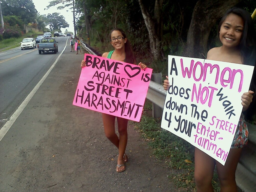 Anti-street harassment campaigners in Hawaii [Credit: Pixel Project]
