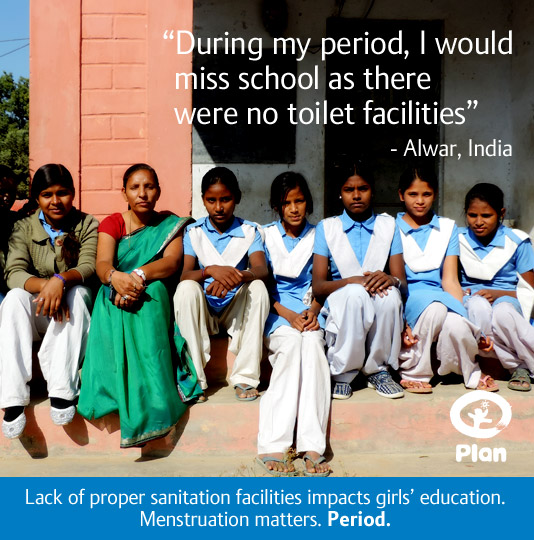 Image for Plan's menstruation matters campaign [CREDIT: PLAN INTERNATIONAL]