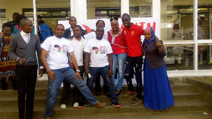 Members of the Kenya Anti-FGM Youth Network celebrating the launch #YouthPower