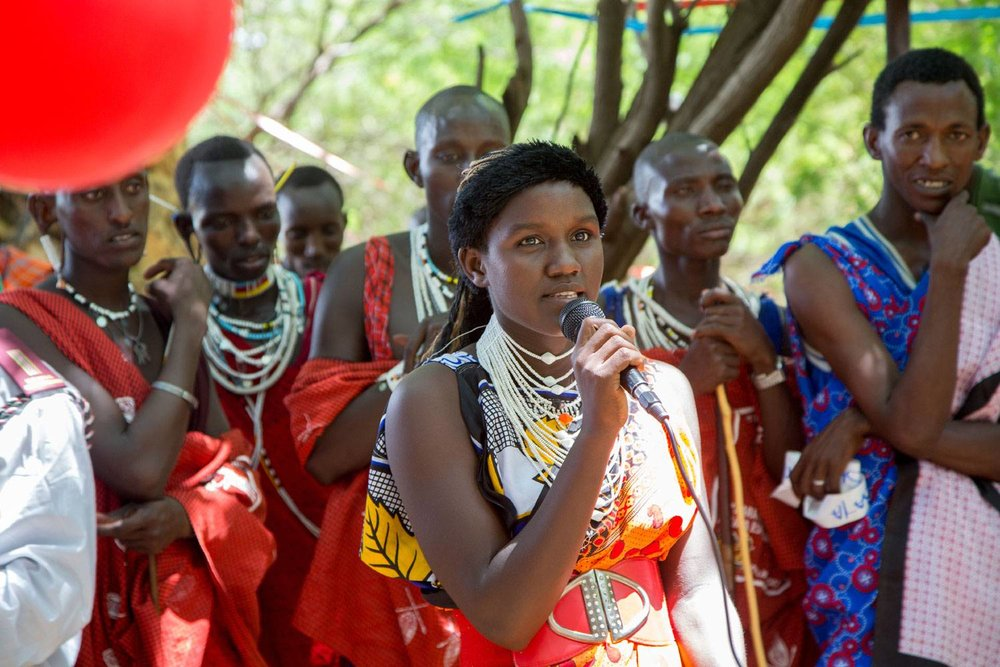 16, belonged to the first group in her village of Shompole, Kenya, that celebrated an Alternative Rite of Passage in place of FGM. [Photo credit:  Amref ]