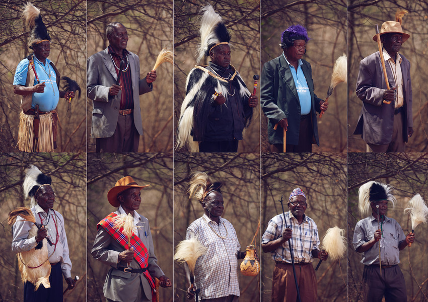 Njuri Ncheke Council of Elders, who have committed to help end FGM in Maasai communities [Credit: Plan International]
