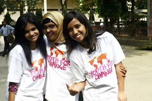 Maisha and some of the Youth For Change Bangladesh team