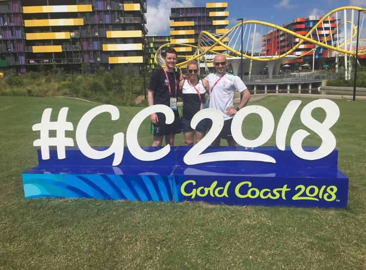 Mark during his time at The Commonwealth Games on The Gold Coast